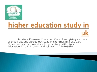 higher education study in uk