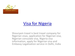 visa for nigeria