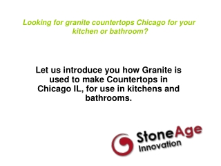 Looking for Granite Countertops Chicago