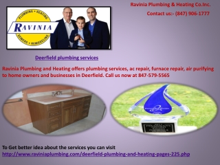 Deerfield plumbing services