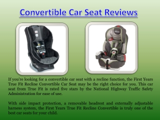 Top Rated Convertible Car Seat