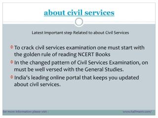 latest points about civil services
