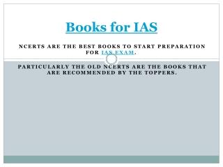 Books for IAS,