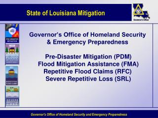 Governor s Office of Homeland Security  Emergency Preparedness   Pre-Disaster Mitigation PDM   Flood Mitigation Assistan