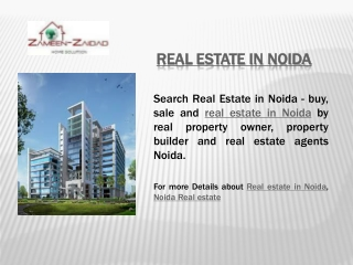 Real estate in Noida