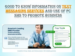 good to know information on text messaging services and use