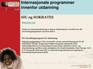 Internasjonale programmer innenfor utdanning