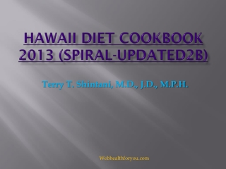 Hawaii Diet Cookbook Spiral 23