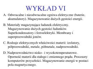 WYKLAD VI