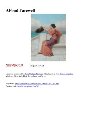 A Fond Farewell - Artisoo.com