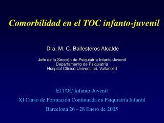 Comorbilidad en el TOC infanto-juvenil