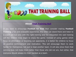 Experts Have Designed A Wide Range Of Footballs for Kids