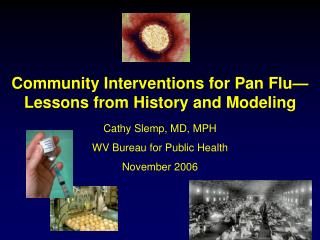 community interventions for pan flu