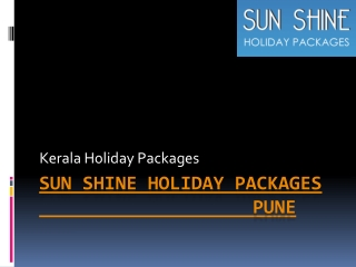 Honeymoon kerala packages, Kerala tour packages from pune