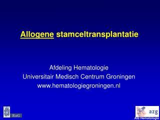 Allogene stamceltransplantatie