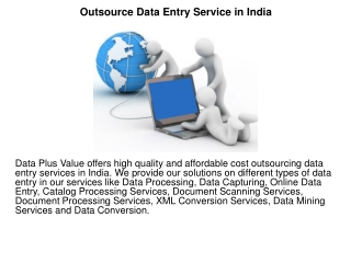 Outsource Data Entry Service in India