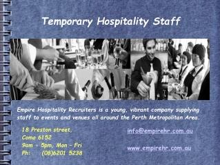 Hospitality Recruiters Australia