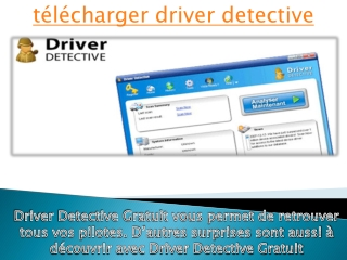 t�l�charger driver detective