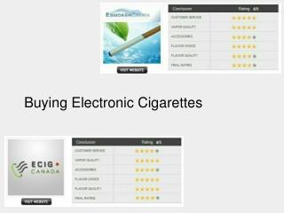 Buying Electronic Cigarettes