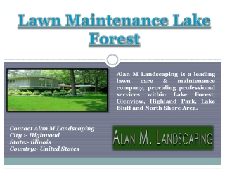 Lawn Maintenance Lake Forest