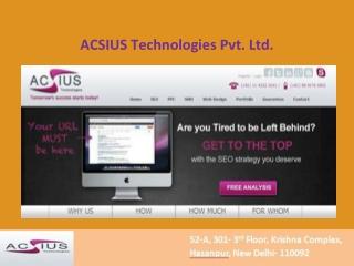 Seo Company India-ACSIUS