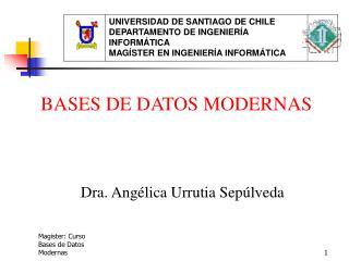 Magister: Curso Bases de Datos Modernas