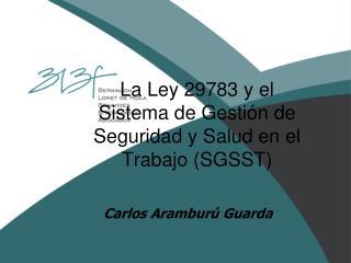La Ley 29783 y el  Sistema de Gesti n de Seguridad y Salud en el Trabajo SGSST