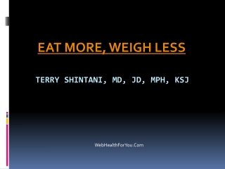 Eat more weigh less Cookbook 25