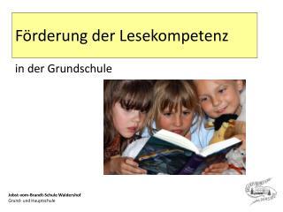 F rderung der Lesekompetenz