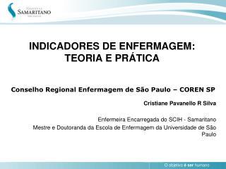 INDICADORES DE ENFERMAGEM: TEORIA E PR TICA