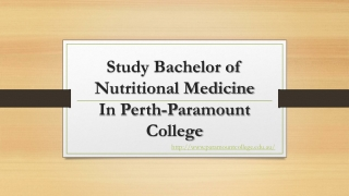 Bachelor of Nutritional Medicine