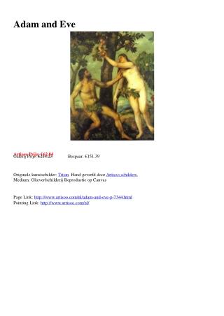Adam and Eve - Artisoo.com