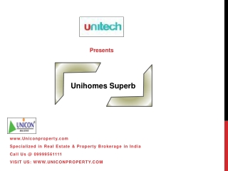 Unihomes Superb Sector 117 Noida