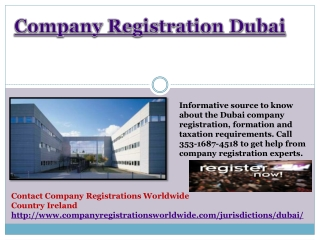 Company Registration Dubai