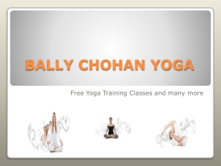 Bally Chohan | Bally Chohan Yoga