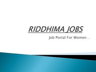 Riddhima Jobs