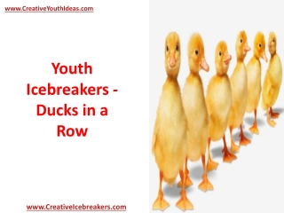 Youth Icebreakers - Ducks in a Row