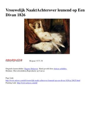 Vrouwelijk Naakt Achterover leunend op Een Divan 1826 - Arti