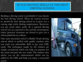 Get ready for CDL test and pass it easily with Taylor drivin