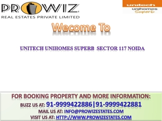 Unitech Unihomes New Project**91-9999422881