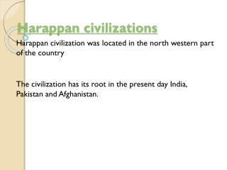 Harappan civilizations