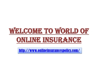 Online Insurance Policy Websites