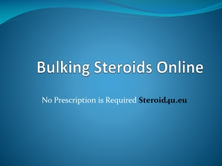 Bulking Steroids Online