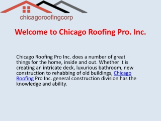 Unbeatable Chicago Roofing Contractors