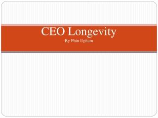 CEO Longevity