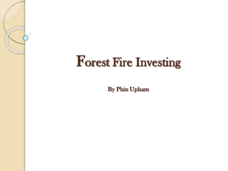 Forest Fire Investing