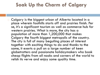 Book flights to Calgary from London