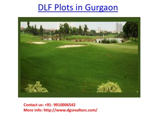 DLF Plots in Gurgaon