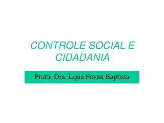 CONTROLE SOCIAL E CIDADANIA