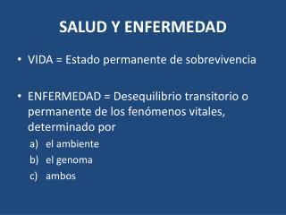 SALUD Y ENFERMEDAD